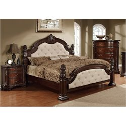 Cathey 3 Piece Bedroom Set in Dark walnut LA