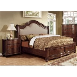 Marcella 2 Piece Bedroom Set in Brown cherry