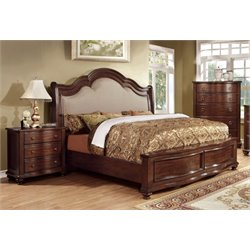 Marcella 3 Piece Bedroom Set in Brown cherry