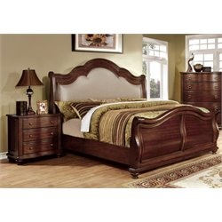 Marcella 2 Piece Bedroom Set in Brown cherry 7350H