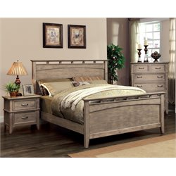 Ackerson 3 Piece Bedroom Set in Weathered oak
