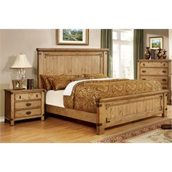Sesco 2 Piece Bedroom Set in Weathered Elm