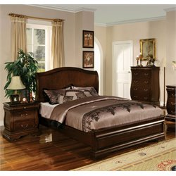 Adhammer 2 Piece Bedroom Set in Dark Walnut