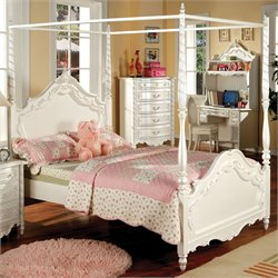 Minerva Fairy Tale Bed in Pearl White