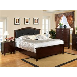 Pruden 3 Piece Bedroom Set in Brown cherry