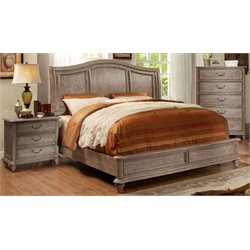 Calpa 3 Piece Bedroom Set in Rustic Grey