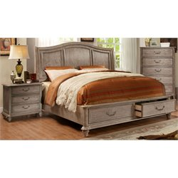 Bartrand 2 Piece Bedroom Set in Rustic Natural Tone 7613