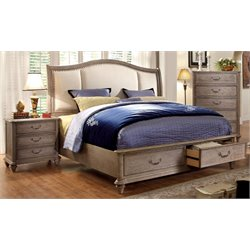 Bartrand 2 Piece Bedroom Set in Rustic Natural Tone