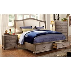 Bartrand 3 Piece Bedroom Set in Rustic Natural Tone
