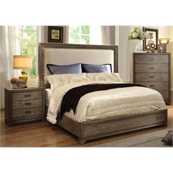Muttex 3 Piece Bedroom Set in Natural Ash with spotted stains