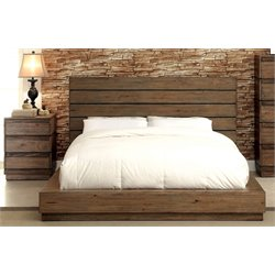 Benjy 2 Piece Bedroom Set in Rustic natural tone