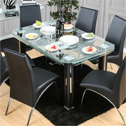 Aniah Glass Top Dinner Table