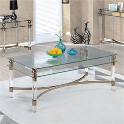 Furniture of America Bolynn Coffee Table in Gold