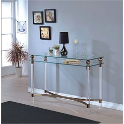 Furniture of America Bolynn Console Table in Gold