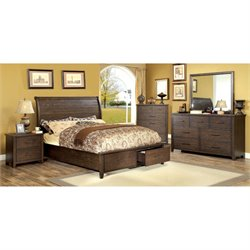Nuguay 4 Piece Bedroom Set in Espresso