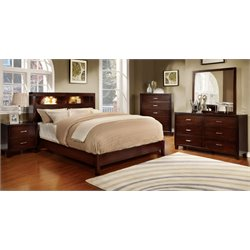 Jenners 4 Piece Bedroom Set in Brown cherry