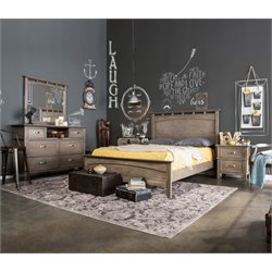 Ackerson 4 Piece Bedroom Set in Weathered oak 3751L