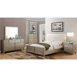 Landermark 4 Piece Bedroom Set in Silver Gray