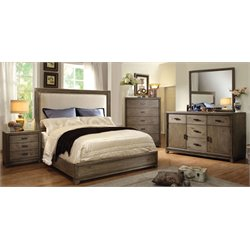 Muttex 4 Piece Bedroom Set in Natural Ash with spotted stains