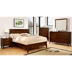 Bryant 4 Piece Bedroom Set in Brown Cherry