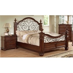 Hauline 3 Piece Bedroom Set in Antique Dark Oak