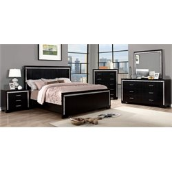 Clarice 4 Piece Bedroom Set in Black