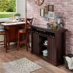 Furniture of America Maylen Buffet Table in Espresso