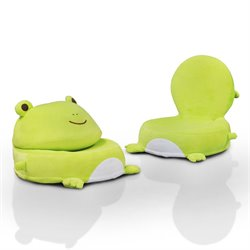 Furniture of America Frog Foldable Kids Chair in Light Green