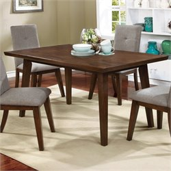 Furniture of America Mecca Rectangle Dining Table in Walnut