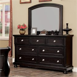 Furniture of America Stillo 7 Drawer Dresser With Mirror in Espresso