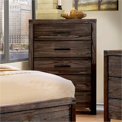 Furniture of America Bahlmer 5 Drawer Chest in Dark Gray