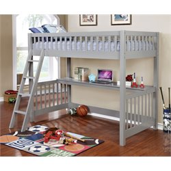 Furniture of America Janessa Loft Bed in Gray
