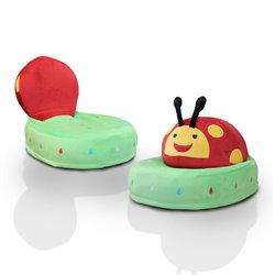 Furniture of America Ladybug Foldable Kids Chair in Red