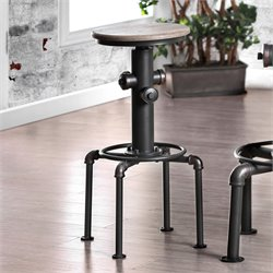 Furniture of America Zina Bar Stool in Antique Black (Set of 2)