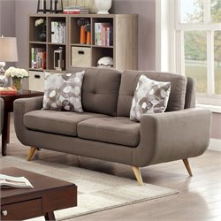Furniture of America Tamatha Loveseat in Mocha