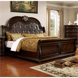 Strout Bed in Brown Cherry