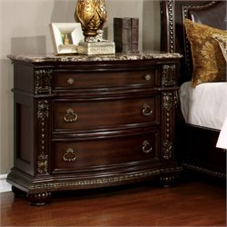 Furniture of America Strout Nightstand in Brown Cherry