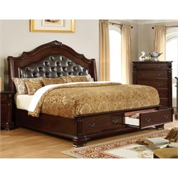 Darnell Bed in Brown Cherry 7672