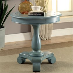 Furniture of America Freida Pedestal Table in Teal