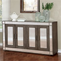 Furniture of America Deskent Buffet Table in Gray