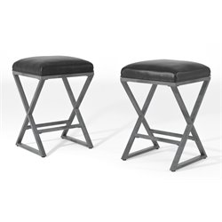 Furniture of America Eloy Bar Stool in Weathered Gray (Set of 2)