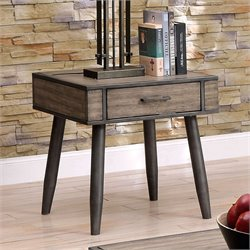 Furniture of America Shantelle End Table in Gray