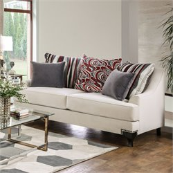 Furniture of America Tandra Ivory Loveseat in Ivory