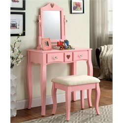 Brunilda 2 Piece Kids Vanity Set