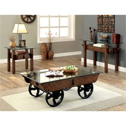 Furniture of America Reuches 2 Piece Coffee Table Set