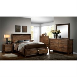 Nangetti 4 Piece Bedroom Set in Oak