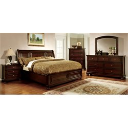 Caiden 4 Piece Bedroom Set in Espresso