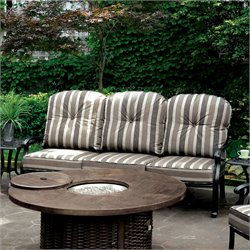 Furniture of America Nanette Outdoor Patio Sofa in Antique Black