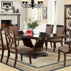 Furniture of America Callo Dining Table in Walnut