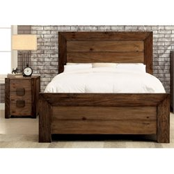 Drew 2 Piece Bedroom Set in Rustic natural tone